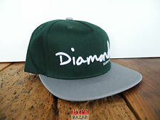 DIAMOND SUPPLY OG SCRIPT SNAPBACK CAP NEU GREEN DIAMOND SUPPLY CO