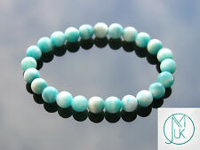 Hemimorphite Natural Gemstone Bracelet Beaded 7-8'' Elasticated Healing Chakra