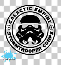 STAR WARS STORM TROOPER GALACTIC EMPIRE Van Auto Paraurti muro VW ARTE Adesivo Decalcomania