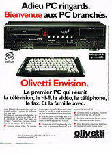 PUBLICITE ADVERTISING 045  1995  OLIVETTI  ENVISION   PC personnal computer
