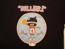 Algierz brand Baller basketball rap hip hop gangster club black T Shirt XXL XL