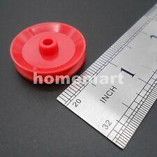100PCS Plastic Pulley wheel toy wheels small flywheel concave static pulley RED