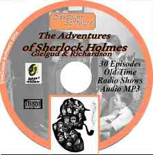 Sherlock Holmes - Gielgud & Richardson 30 Old Time Radio OTR MP3 audio CD