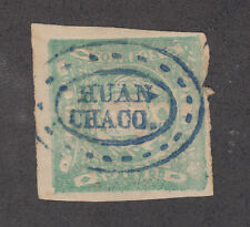 Peru, Sc 14, Mi 15 used 1868-72 1d Coat of Arms w/ Rare HUANCHACO cancel, VF