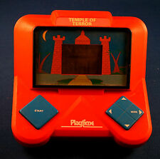 1988 TEMPLE OF TERROR PLAYTIME ELECTRONIC HANDHELD Game Arcade TABLETOP Works