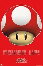 "POWER UP! POSTER ""Super Mario Bros Magic Mushroom Nintendo"" NEW Licensed"