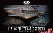 Nuevo-U-Wing Fighter & Tie Striker Star Wars Rogue una escala 1/144 modelo de plástico