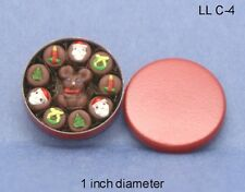 Christmas Tin of Chocolates 1:12 Scale Dollhouse Miniatures Dessert FOOD