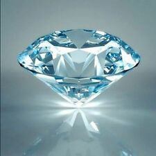 TWO PCS -  0.8 Ct Russian Lab Sim Diamond BRILLIANT CUT (Aqua) 6 MM