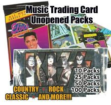 Music Trading Card Unopened 25 Packs of Mixed Lot (Elvis, Kiss, New Kids on blk)