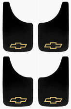 4 PK CHEVY YELLOW BOWTIE 9X15 MUD FLAPS SPLASH GUARDS FOR TRUCKS, SUVS,VANS,CARS