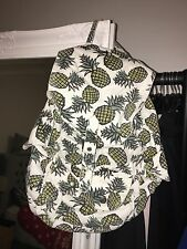 Topshop White Pineapple Print Rucksack Backpack