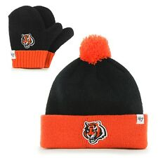 Cincinnati Bengals - Logo Bam Bam Toddler Pom Pom Beanie Knit Hat and Mitten Set