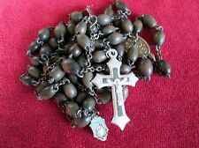 """Antique Nun's Large Wood 34"""" Lg Rosary Lovely Medals 1850's Type Just For You!"""