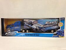 Fast Furious Peterbilt 387 Hauler,Trailer,Collectible 1:32 Diecast Jada Toy Blue