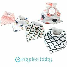 Kaydee Baby Bandana Bibs Girl, adjustable, lined set of 4