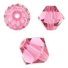 Swarovski Crystal Bicone. Rose  Color. 4mm. Approx. 144 PCS. 5328