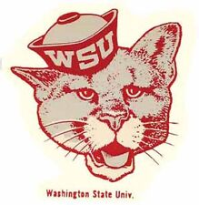 University of Washington State Cougars  Vintage Looking Travel Decal Sticker