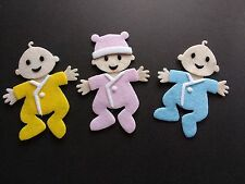 3 Felt baby Die cuts. Embellishments. Card topper, Box frame, scrap book, Crafts