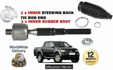 FOR MITSUBISHI L200 WARRIOR 2.5 DID 2006-  1x INNER STEERING RACK TIE ROD + BOOT
