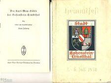 Festschrift zum Heimatfest Hohenstein-Ernstthal 1938 & Beilage Karl May-Höhle
