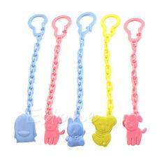 2pc mignon Infant Dummy Tétine Sucette chaîne clip Titulaire Toddler Toy cadeaux