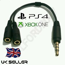 PC Gaming Headset to XBOX ONE / PS4 talkback chat converter Cable adapter lead
