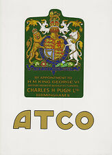 ATCO Vintage Mower George VI Coat of Arms Decal