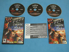 WARHAMMER 40.000 Dawn of War - 3 disc set   game for PC CD-ROM *GC*Complete* SN