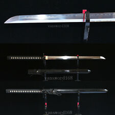 hand forge t10 clay tempered japanese samurai real hamon ninja sword razor sharp