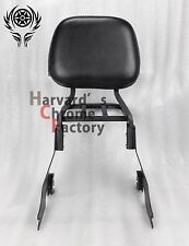 Black Detachable Sissy Bar Backrest with Luggage Rack Sportster XL883 1200 04-16