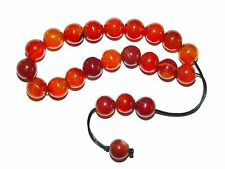 0251 Loose String Greek Komboloi Prayer Beads 19 x 10mm  Natural Agate Gemstone