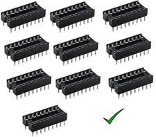 10pz zoccoli 18 pin 9+9 pin per circuiti integrati DIL passo 2,54mm