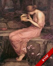 PSYCHE WOMAN OPENING PANDORA'S BOX OIL PAINTING ART REAL CANVAS GICLEE PRINT