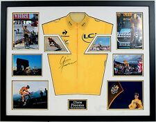 Chris Froome Genuine Hand Signed Tour De France Yellow Jersey FRAMED AFTAL COA