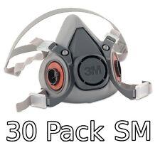 3M 6000 Series Respirator Small Half Mask Facepiece, 30 Pack, 6100