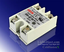 New 40A SSR Solid State Relay 3-32V DC 24-380V AC