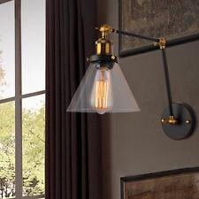 Retro Vintage Industrial Loft Glass Wall Light Lamp  Pub Bar Copper Lamp Socket