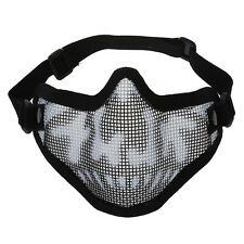 Camouflage Airsoft Paintball Hunting Half Face Tactical Mask Mesh CP
