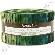 Robert Kaufman Artisan Batiks Prisma Dye Rainforest Jelly Roll Fabric 40 Strips