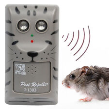 Ultrasonic Cordless Wall Hanger Pest Mouse Mice Rats Repeller Dog Cat Repellent