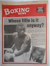 Boxing News 20 July 1990 Herol Graham Lennox Lewis-Jean Chanet Phil Martin