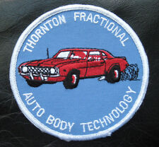 THORNTON  AUTO BODY  EMBROIDERED SEW ON PATCH FRACTIONAL TECHNOLOGY ADVERTISING