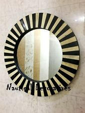 Mirror Wall Mount Bedroom Horn/Bone Frame Decorative Decor