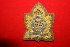 WW2 THE PERTH REGIMENT CANADA CANADIAN OFFICERS BERET BADGE BULLION WIRE COPY