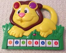Musical Lion Toy by Manley - 2011, EUC, Music and Lights, Colored Keys