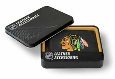 Chicago Blackhawks NHL Embroidered Leather Billfold Bi-fold Wallet ~ New