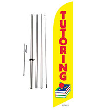 Tutoring Enrolling Feather Banner Swooper Flag Kit with pole+spike
