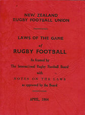 RUGBY - 1964 (April) - Laws of the Game - NZRFU, NEW ZEALAND - softcover