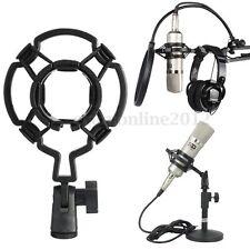 Estudio Micrófono Choque Montaje Soporte a Larga Diafragma Condensador Mic Clip